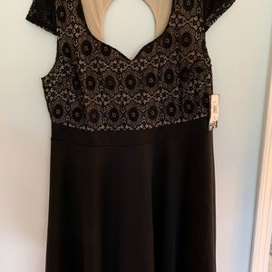 Black Dress w/ Lace Top *Never worn*